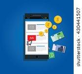 mobile advertising concept | Shutterstock .eps vector #430441507