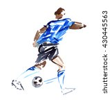 abstract soccer player in blue... | Shutterstock . vector #430445563