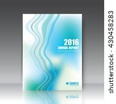 annual report cover  brochure... | Shutterstock .eps vector #430458283