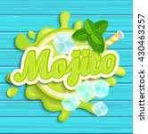 mojito label splash. blot and... | Shutterstock .eps vector #430463257