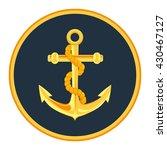 gold anchor label vector...   Shutterstock .eps vector #430467127