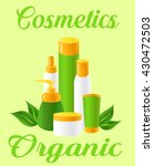 bottles with natural cosmetics | Shutterstock .eps vector #430472503
