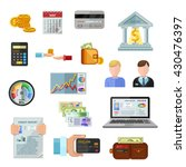 credit rating flat color icons... | Shutterstock .eps vector #430476397