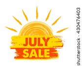 july sale summer banner   text... | Shutterstock .eps vector #430476403