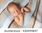 newborn sleeping baby boy two... | Shutterstock . vector #430494847