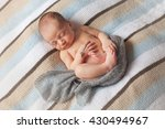 newborn sleeping baby boy two... | Shutterstock . vector #430494967