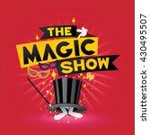 the magic show. vector... | Shutterstock .eps vector #430495507