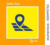 map pointer icon. eps 10.