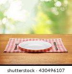 plate. | Shutterstock . vector #430496107