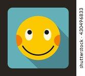 embarrassed emoticon icon   Shutterstock .eps vector #430496833
