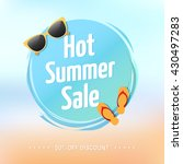 hot summer sale label | Shutterstock .eps vector #430497283