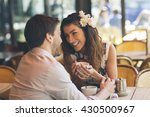 young couple dating in paris | Shutterstock . vector #430500967
