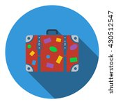 suitcase icon. flat design....