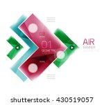 color glossy glass arrow banner.... | Shutterstock .eps vector #430519057