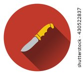 icon of hunting knife ui colors....
