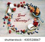 good morning  breakfast brunch...   Shutterstock . vector #430528867