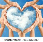 female hands in heart shape on...   Shutterstock . vector #430539307