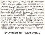 set of vintage sketch elements. ... | Shutterstock .eps vector #430539817