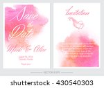set of vector save the date... | Shutterstock .eps vector #430540303