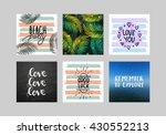 set hand lettering poster set .... | Shutterstock . vector #430552213