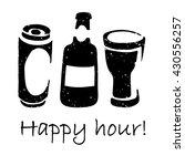beer happy hour poster. vector... | Shutterstock .eps vector #430556257