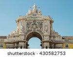 detail of rua augusta arch ... | Shutterstock . vector #430582753