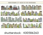 sketch big city architecture... | Shutterstock . vector #430586263