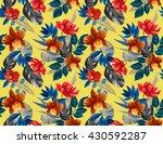 seamless tropical flower  plant ... | Shutterstock . vector #430592287