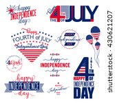 4th of july patch  label  badge ... | Shutterstock .eps vector #430621207