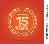 15 years anniversary badge on... | Shutterstock .eps vector #430629517