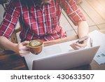 business man using smart phone... | Shutterstock . vector #430633507