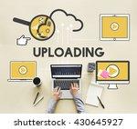 upload uploading storage cloud... | Shutterstock . vector #430645927