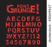 grunge alphabet set with... | Shutterstock .eps vector #430649617