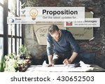 proposition proposal solution... | Shutterstock . vector #430652503