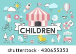 children kids energetic youth... | Shutterstock . vector #430655353