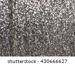 metal silver sequins pattern... | Shutterstock . vector #430666627