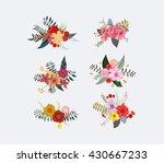 Spring Floral Clusters  Flower...