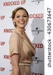 Small photo of Katherine Heigl at the Los Angeles premiere of 'Knocked Up' held at the Mann Village Theatre in Westwood, USA on May 21, 2007.
