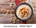tasty rice pudding with nuts... | Shutterstock . vector #430676827