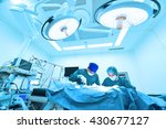 two veterinarian surgeons in... | Shutterstock . vector #430677127