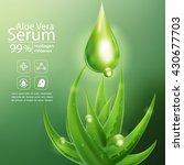 aloe vera serum and collagen... | Shutterstock .eps vector #430677703