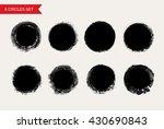 vector grunge circles.grunge... | Shutterstock .eps vector #430690843