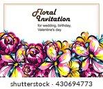 romantic invitation. wedding ...   Shutterstock .eps vector #430694773