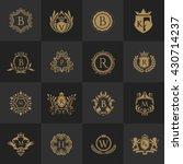 crest logo set  flourishes...   Shutterstock .eps vector #430714237