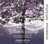 wedding invitation with glowing ... | Shutterstock .eps vector #430731913