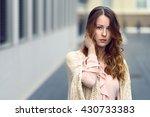 beautiful single young woman in ... | Shutterstock . vector #430733383