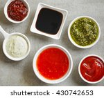 bowls of various sauces  top... | Shutterstock . vector #430742653