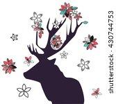 deer vector illustration with... | Shutterstock .eps vector #430744753