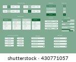 business web graphics elements...   Shutterstock .eps vector #430771057