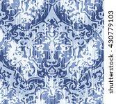 distressed damask pattern... | Shutterstock .eps vector #430779103